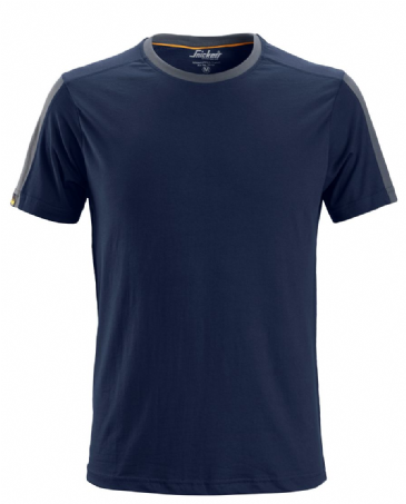 Snickers 2518 AllroundWork T-Shirt (Navy / Steel Grey)